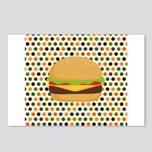 Mod Polka Dot Burger Postcards (Package of 8)
